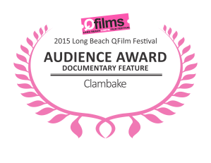 QFILMS 2015 DIGITAL LAURELS - Clambake Audience Awards